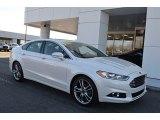 2015 White Platinum Metallic Ford Fusion Titanium #124903880