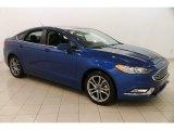 2017 Lightning Blue Ford Fusion Hybrid SE #124914594