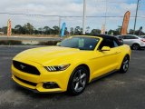 2016 Triple Yellow Tricoat Ford Mustang V6 Convertible #124928884