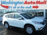 2015 White Diamond Pearl Honda CR-V EX AWD #124945142