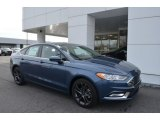 2018 Blue Metallic Ford Fusion S #124962805