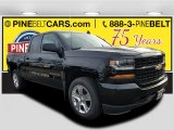 2018 Black Chevrolet Silverado 1500 Custom Double Cab #125001248