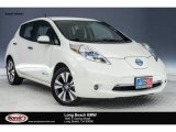 2013 Glacier White Nissan LEAF SL #125068500