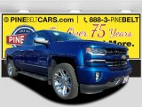 2018 Deep Ocean Blue Metallic Chevrolet Silverado 1500 LTZ Double Cab 4x4 #125093740