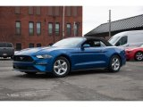 2018 Lightning Blue Ford Mustang EcoBoost Convertible #125124506