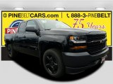 2018 Black Chevrolet Silverado 1500 WT Double Cab #125140114