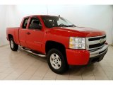 2009 Victory Red Chevrolet Silverado 1500 LT Extended Cab 4x4 #125156426