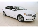 2017 Oxford White Ford Fusion Hybrid SE #125201182