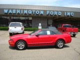 2005 Torch Red Ford Mustang V6 Premium Convertible #12518510