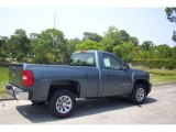 2006 Blue Granite Metallic Chevrolet Silverado 1500 Work Truck Regular Cab 4x4 #12519114