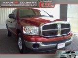 2007 Inferno Red Crystal Pearl Dodge Ram 1500 SLT Quad Cab #12521889