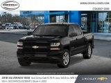 2018 Black Chevrolet Silverado 1500 Custom Crew Cab 4x4 #125344242