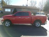 2009 Flame Red Dodge Ram 1500 SLT Crew Cab 4x4 #125389842