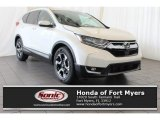 2018 White Diamond Pearl Honda CR-V Touring #125453208