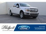 2018 White Platinum Ford F150 Lariat SuperCrew 4x4 #125453414