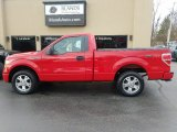 2010 Vermillion Red Ford F150 STX Regular Cab #125534303