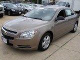 2008 Amber Bronze Metallic Chevrolet Malibu LS Sedan #12512375