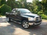 2007 Brilliant Black Crystal Pearl Dodge Ram 1500 Big Horn Edition Quad Cab 4x4 #12515264
