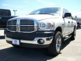 2007 Bright White Dodge Ram 1500 SLT Quad Cab 4x4 #12515959