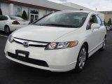 2007 Taffeta White Honda Civic LX Sedan #12517778