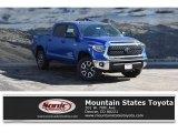 2018 Blazing Blue Pearl Toyota Tundra SR5 CrewMax 4x4 #125683614
