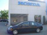 2007 Nighthawk Black Pearl Honda Civic LX Sedan #12507942