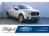2018 Ingot Silver Ford F150 XL SuperCab #125683750