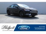 2018 Shadow Black Ford Fusion S #125775191
