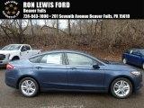 2018 Blue Metallic Ford Fusion SE #125775084