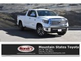 2018 Super White Toyota Tundra Limited Double Cab 4x4 #125835851