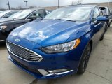 2018 Lightning Blue Ford Fusion SE #125861922