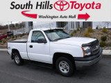 2004 Summit White Chevrolet Silverado 1500 Regular Cab 4x4 #125861713