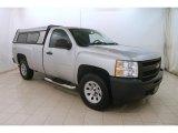 2012 Silver Ice Metallic Chevrolet Silverado 1500 Work Truck Regular Cab 4x4 #125861950