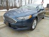 2018 Blue Metallic Ford Fusion SE #126029070