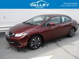 2015 Crimson Pearl Honda Civic EX Sedan #126028714