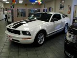 2007 Performance White Ford Mustang V6 Deluxe Coupe #12591999