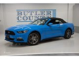 2017 Grabber Blue Ford Mustang EcoBoost Premium Convertible #126058896