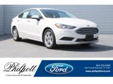 2018 White Platinum Ford Fusion SE #126117248