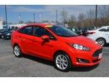 2015 Race Red Ford Fiesta SE Sedan #126166306