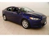 2015 Deep Impact Blue Metallic Ford Fusion SE #126166413