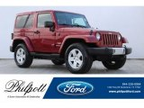 2011 Deep Cherry Red Crystal Pearl Jeep Wrangler Sahara 4x4 #126247932