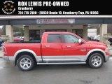 2014 Flame Red Ram 1500 Laramie Crew Cab 4x4 #126305065