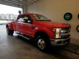 2018 Race Red Ford F350 Super Duty Lariat Crew Cab 4x4 #126305084