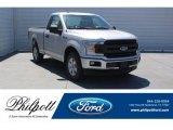 2018 Ingot Silver Ford F150 XL Regular Cab #126353359
