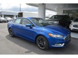 2018 Lightning Blue Ford Fusion SE #126407447