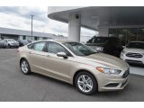2018 White Gold Ford Fusion SE #126407445