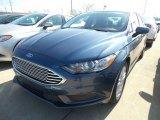 2018 Blue Metallic Ford Fusion SE #126435299