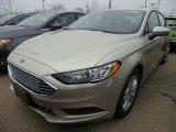 2018 White Gold Ford Fusion SE #126435292