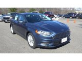 2018 Blue Metallic Ford Fusion SE #126464192