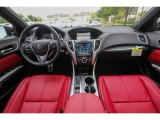 2018 Acura TLX V6 A-Spec Sedan Red Interior